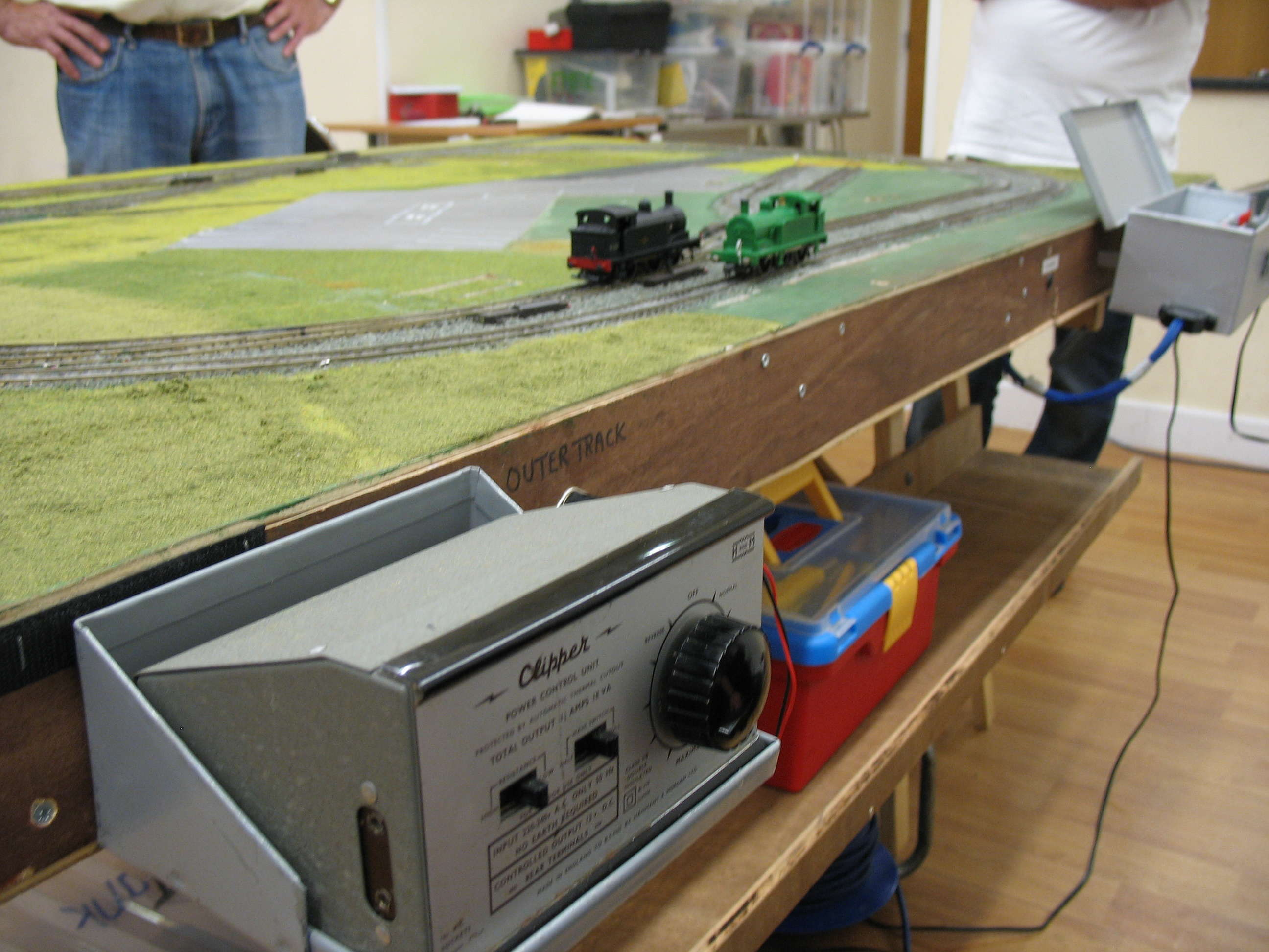 Thomas Themed layout master controller and locos being test run