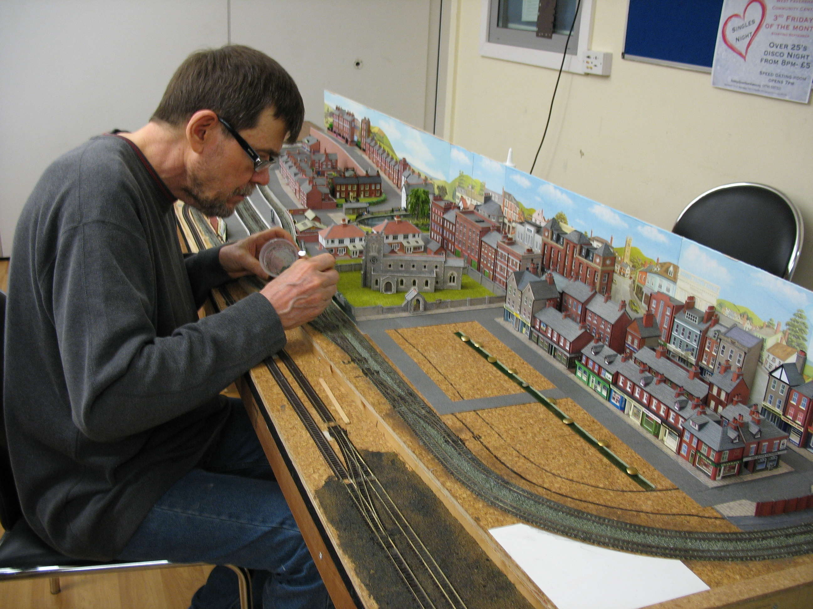 Scenic detailing work on OSP&WL layout