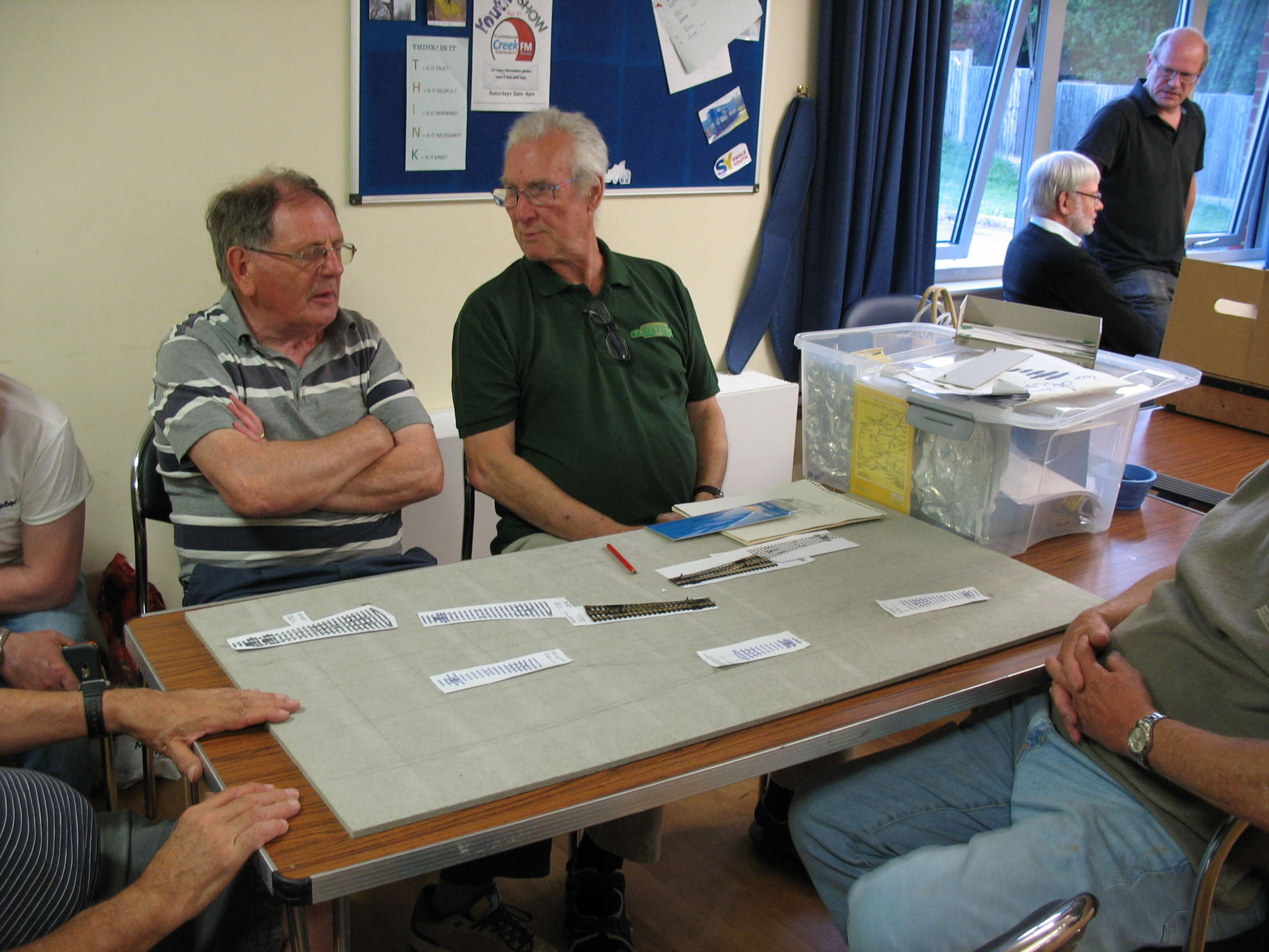 Layout builders discuss options for the new dual gauge layout