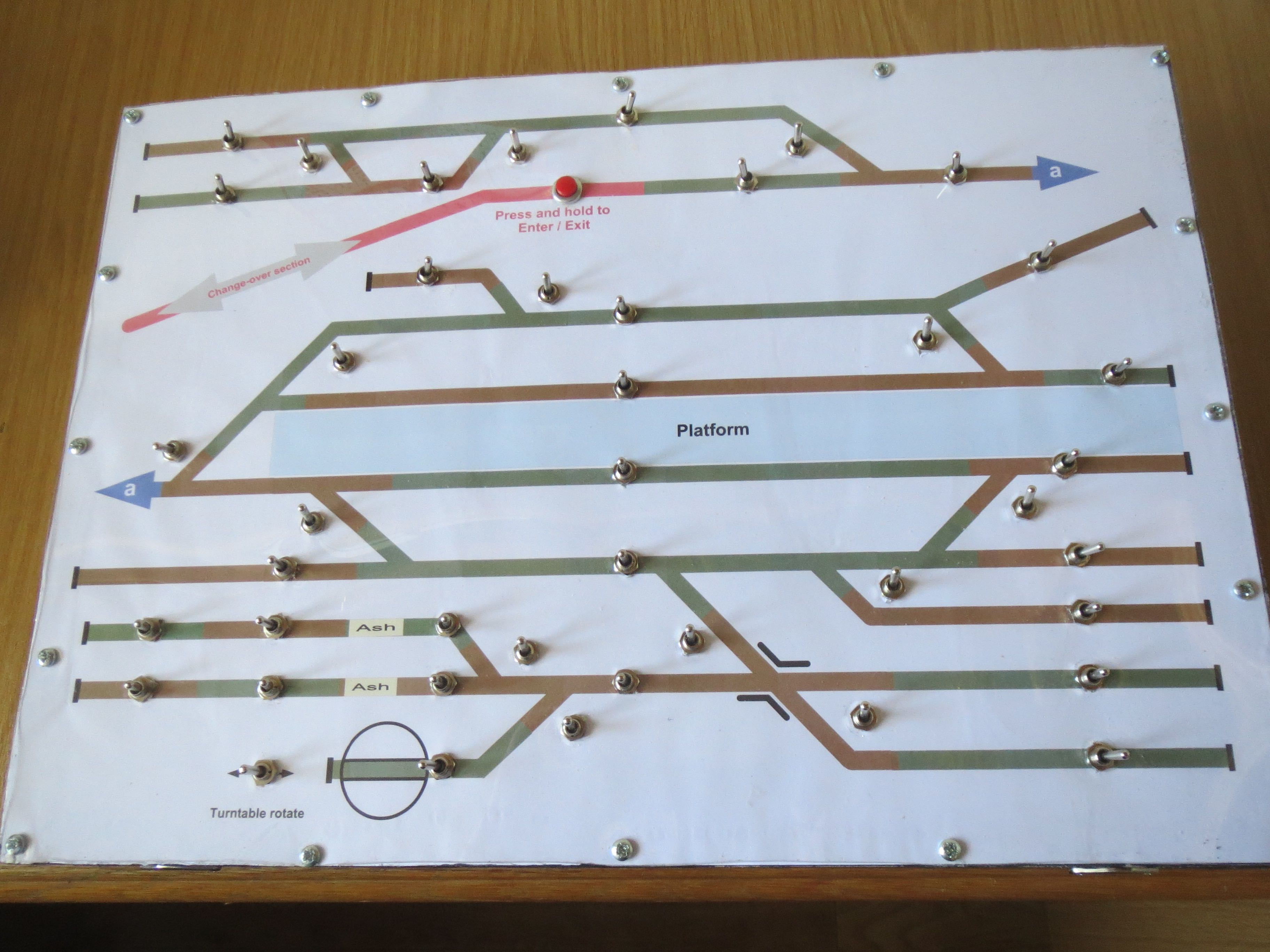 N Gauge layouts Terminus control panel