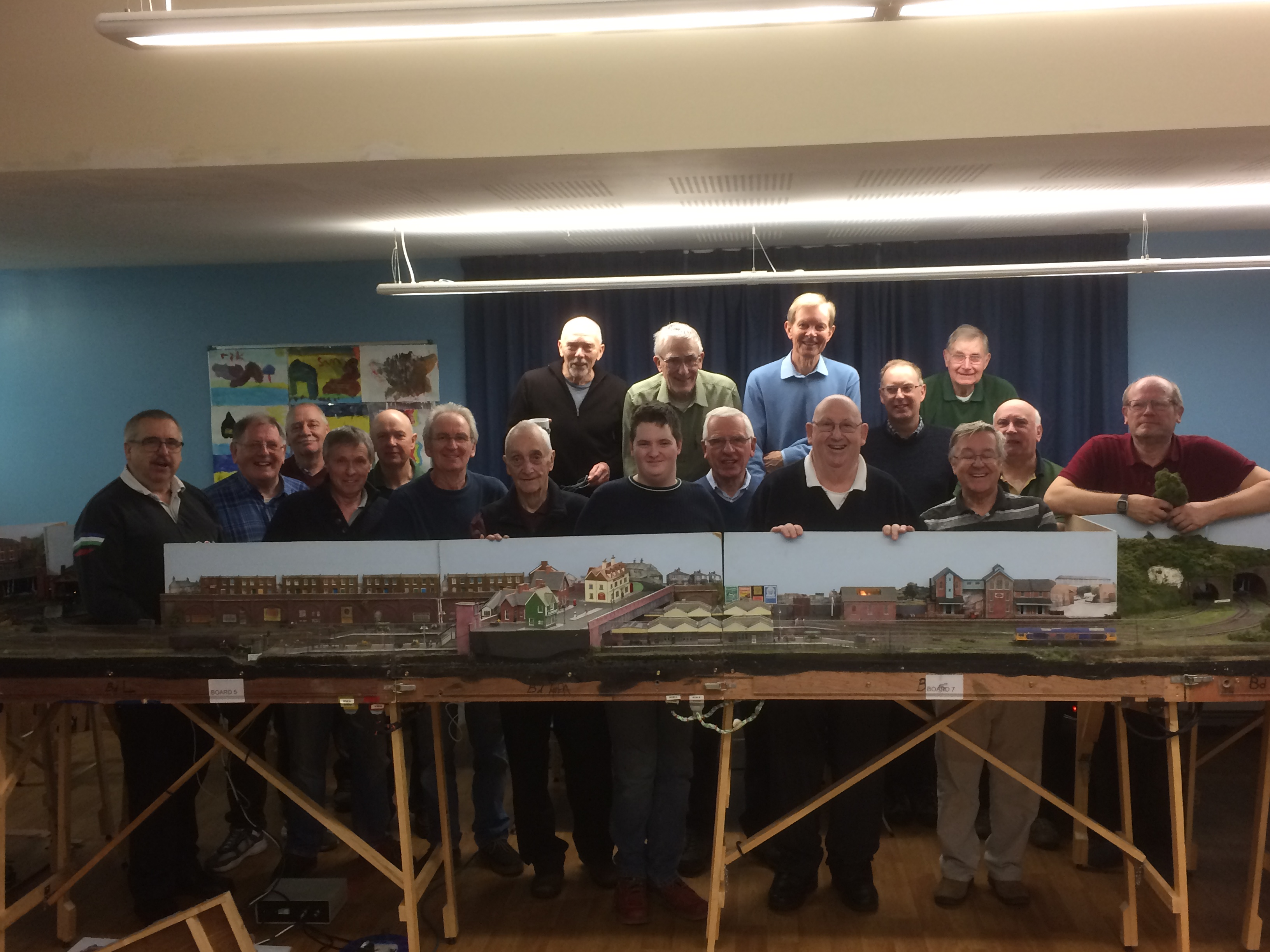 Farewell to BWJ layout as club members gather around for its last ever operating session